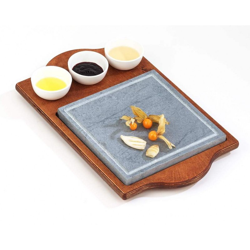 pietra ollare quadra con ciotole pietre ollari da tavolo