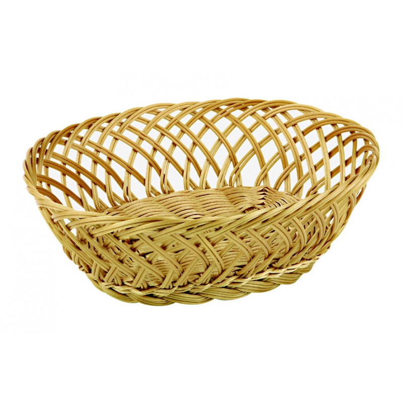 Polyrattan Oval Bread Basket